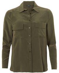 Toupy - Gala Blouse, Twin Pocket Army Green Shirt - Lyst
