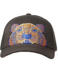KENZO - Neon Tiger Baseball Cap, Black Hat - Lyst