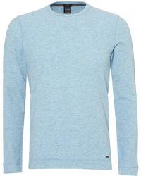 BOSS - Tempest Sweatshirt, Slim Fit Sky Blue Jumper - Lyst