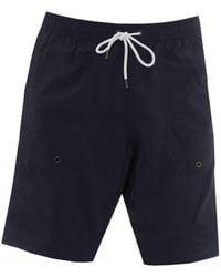 Emporio Armani Broadshort Swimming Trunks, Navy Blue Swimshorts