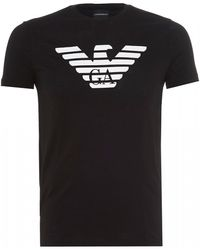 Emporio Armani Eagle Logo T-shirt, Black Slim Fit Tee
