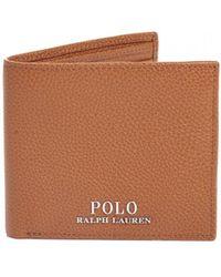 Ralph Lauren - Billfold Polo Tan Leather Wallet - Lyst