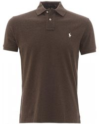 Polo Ralph Lauren Alpine Brown Heather Chest Logo Polo Shirt