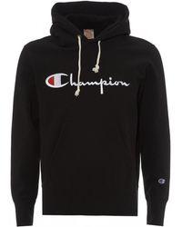 Champion - Script Overhead Hoodie - Lyst