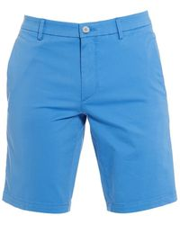 BOSS - Liem4-w Sky Blue Cotton Slim Fit Shorts - Lyst