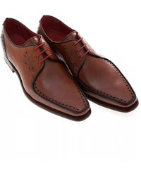 Jeffery West Surreal Melly Tan Brown Apron Derby Shoes