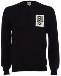 Kent & Curwen Three Lions Sweater, Deep Blue Sweater