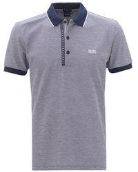 BOSS by Hugo Boss Paule 4 Navy Slim Fit Polo Shirt - Blue