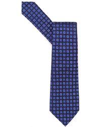 Armani - Tie, Small Squares Silk Blue Tie - Lyst