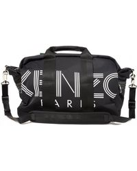 KENZO Logo Weekend Holdall Bag - Black