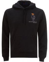 Polo Ralph Lauren Polo Bear Fleece Hoodie, Black Hooded Sweatshirt