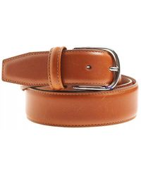 Andersons Smooth Calk Tan Leather Belt - Brown