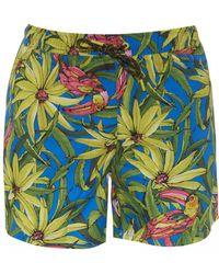 BOSS Threadfin Swimming Shorts, Floral Print Swimming Trunks - Multicolour
