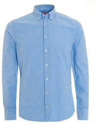 BOSS by Hugo Boss - Epreppy Slim Fit Sky Blue Oxford Shirt - Lyst