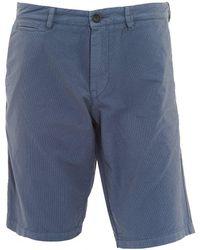 BOSS - Slim4-shorts-d-eosp Stripe Cotton Grey Shorts - Lyst