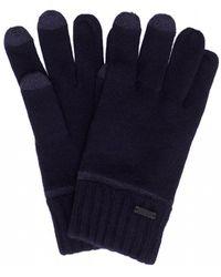 BOSS Navy Blue Gritz Touchscreen-friendly Gloves
