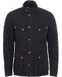 Barbour - International Ariel Quilted Jacket, Navy Blue Coat - Lyst