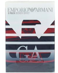 Emporio Armani Three Pack Boxers, Navy Blue Trunks