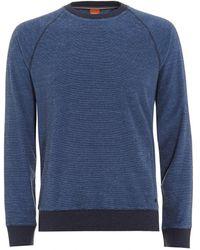 BOSS by Hugo Boss - Willie Jumper, Marl Blue Sweatshirt - Lyst