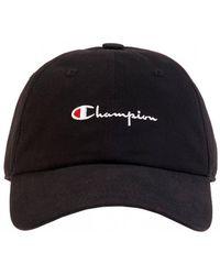 Champion Black Script Hat, Baseball Cap