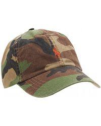 Ralph Lauren - Logo Baseball Cap, Camo Print Hat - Lyst