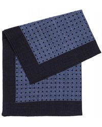 BOSS Black   Classic Blue Polka Dot Wool Pocket Square   Lyst