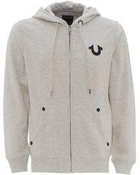 True Religion Buddha Hoodie, Zip Through Jacket - Grey