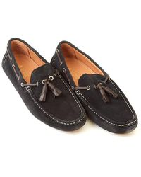 Armani - Driving Shoes Tassel Navy Suede Shoe - Lyst