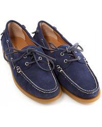 Ralph Lauren - Classic Suede Newport Navy Blue Boat Shoes - Lyst