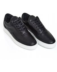Filling Pieces - Nardo Low Top Trainers, Black Nappa Leather Trainers - Lyst