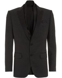 BOSS - Havit Jacket, Patterened Slim Fit Black Dinner Jacket - Lyst