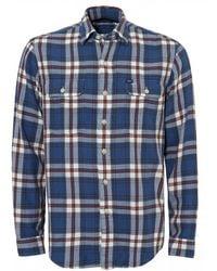 Ralph Lauren - Twill Check Shirt, Cobalt Blue Regular Fit Shirt - Lyst