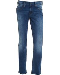 BOSS - Orange63 Jeans, Slim Fit Mid Wash Whiskered Stretch Denim - Lyst