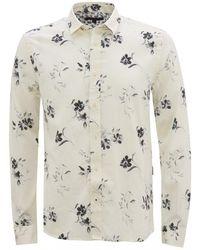 John Varvatos Pavement White Floral Shirt