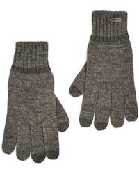BOSS Orange - Graas 2 Grey Wool Gloves - Lyst