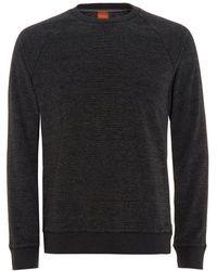 BOSS - Willie Jumper, Marl Black Sweatshirt - Lyst