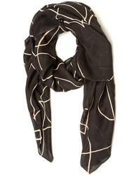 Armani Jeans - Heart Outline Pattern Grey Beige Scarf - Lyst