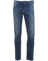 Armani Jeans J06 Jeans, Blue Stonewash Slim Fit Denim