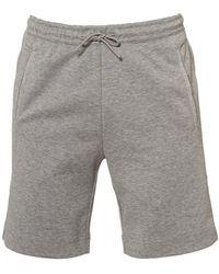 BOSS - Headlo Jersey Grey Marl Track Shorts - Lyst