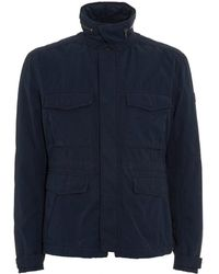 BOSS - Ojett-w Padded Slim Fit Navy Field Jacket - Lyst