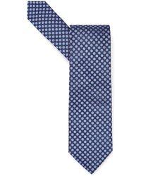 BOSS Black - Navy Blue Contrast Polka Dot Tie - Lyst