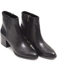 Sam Edelman - Joey Shoes, Black Leather Heeled Boots - Lyst