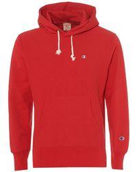 Champion - Reverse Weave Hoodie, Red Hooded Sweat - Lyst