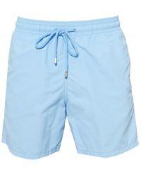 Vilebrequin Moorea Plain Swimshorts, Sky Blue Swimming Trunks