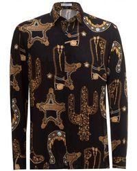 Versace Black Baroque Western Shirt