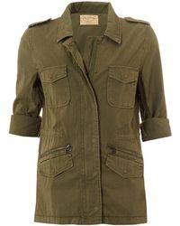 Velvet By Graham & Spencer - Ruby Overshirt, Forest Green Jacket - Lyst