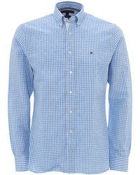 Tommy Hilfiger Sky Blue Gingham Check Cotton Shirt