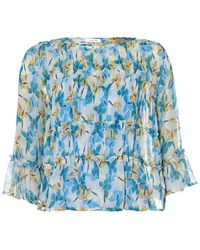 I Blues - Nocera 3/4 Sleeve Top, Butterfly Print Blouse - Lyst