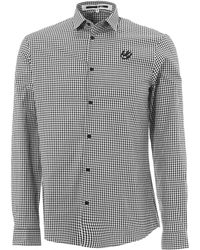 McQ Black & White Gingham Swallow Harness Shirt