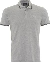 Armani Jeans - Tipped Short Sleeved Slim Fit Polo - Lyst